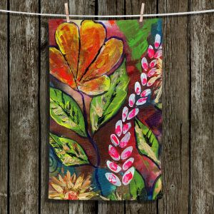 Unique Bathroom Towels | Ann Marie Cheung - Blossoms | Flower abstract collage nature dark whimsical