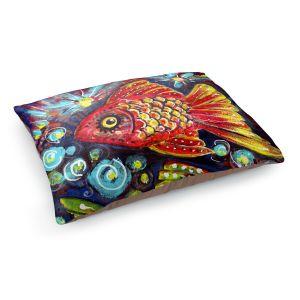 Decorative Dog Pet Beds | Ann Marie Cheung - Bubbles | Goldfish water nature