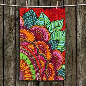 Unique Hanging Tea Towels | Ann Marie Cheung - Delightful | Mandala flower pattern vibrant
