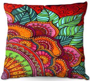 Throw Pillows Decorative Artistic | Ann Marie Cheung - Delightful | Mandala flower pattern vibrant