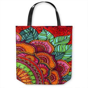 Unique Shoulder Bag Tote Bags | Ann Marie Cheung - Delightful | Mandala flower pattern vibrant