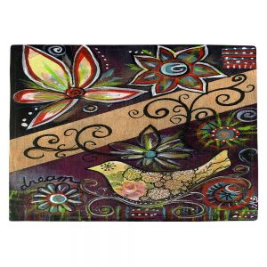 Countertop Place Mats | Ann Marie Cheung - Dream | Flower abstract collage nature dark whimsical