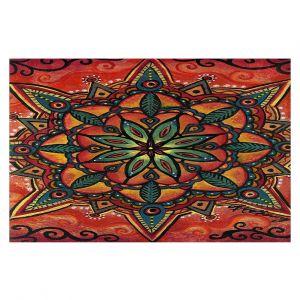 Decorative Floor Covering Mats | Ann Marie Cheung - Fiery Mandala 2 | Pattern repetition spiritual