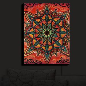 Nightlight Sconce Canvas Light | Anne Marie Cheung - Fiery Mandala 2