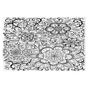 Decorative Floor Covering Mats | Ann Marie Cheung - Floral Mandalas | Pattern repetition spiritual