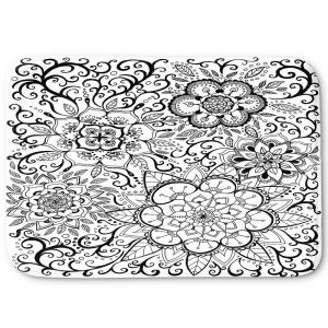 Decorative Bathroom Mats   Ann Marie Cheung - Floral Mandalas   Pattern repetition spiritual