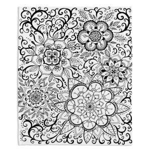 Artistic Sherpa Pile Blankets | Ann Marie Cheung - Floral Mandalas | Pattern repetition spiritual