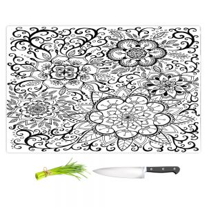 Artistic Kitchen Bar Cutting Boards | Ann Marie Cheung - Floral Mandalas | Pattern repetition spiritual