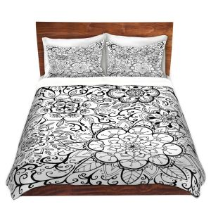Artistic Duvet Covers and Shams Bedding | Ann Marie Cheung - Floral Mandalas | Pattern repetition spiritual
