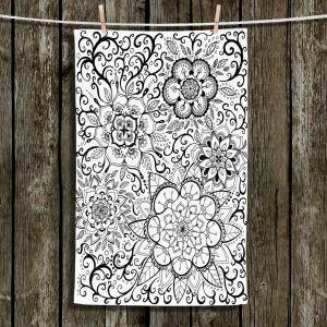Unique Bathroom Towels | Ann Marie Cheung - Floral Mandalas | Pattern repetition spiritual