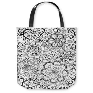 Unique Shoulder Bag Tote Bags | Ann Marie Cheung - Floral Mandalas | Pattern repetition spiritual