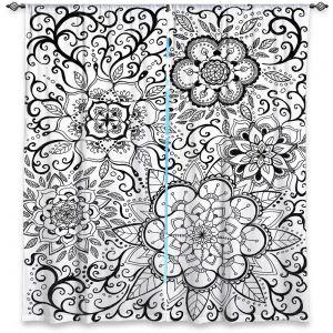 Decorative Window Treatments   Ann Marie Cheung - Floral Mandalas   Pattern repetition spiritual