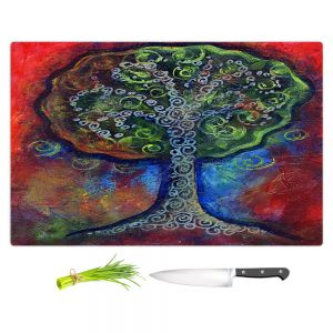 Artistic Kitchen Bar Cutting Boards | Ann Marie Cheung - Green Tree | nature outdoors