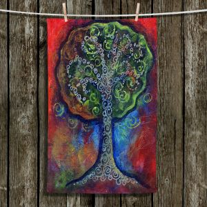 Unique Hanging Tea Towels | Ann Marie Cheung - Green Tree | nature outdoors