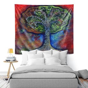 Artistic Wall Tapestry | Ann Marie Cheung - Green Tree | nature outdoors