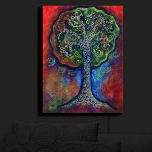 Nightlight Sconce Canvas Light | Anne Marie Cheung - Green Tree