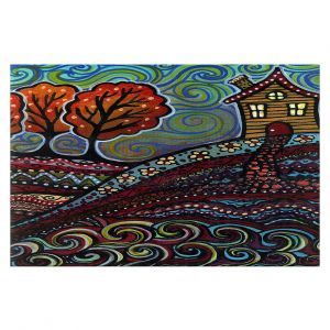Decorative Floor Covering Mats | Ann Marie Cheung - Happy House | hills trees home