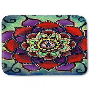 Decorative Bathroom Mats | Ann Marie Cheung - Lotus Mandala 2 | Flower pattern spiritual