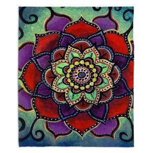 Decorative Fleece Throw Blankets | Ann Marie Cheung - Lotus Mandala 2 | Flower pattern spiritual