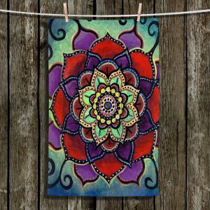 Unique Hanging Tea Towels | Ann Marie Cheung - Lotus Mandala 2 | Flower pattern spiritual