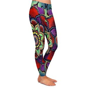 Casual Comfortable Leggings | Ann Marie Cheung - Lotus Mandala 2 | Flower pattern spiritual