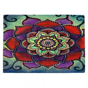Countertop Place Mats | Ann Marie Cheung - Lotus Mandala 2 | Flower pattern spiritual