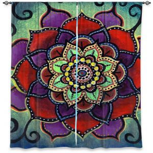 Decorative Window Treatments | Ann Marie Cheung - Lotus Mandala 2 | Flower pattern spiritual