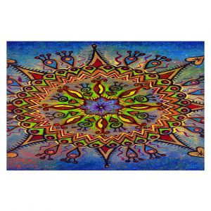 Decorative Floor Covering Mats | Ann Marie Cheung - Mandala 1 | Pattern star spiritual