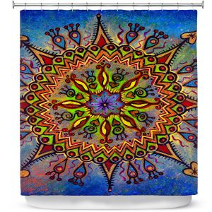 Premium Shower Curtains | Ann Marie Cheung - Mandala 1 | Pattern star spiritual