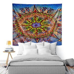 Artistic Wall Tapestry | Ann Marie Cheung - Mandala 1 | Pattern star spiritual