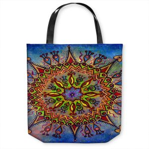 Unique Shoulder Bag Tote Bags | Ann Marie Cheung - Mandala 1 | Pattern star spiritual