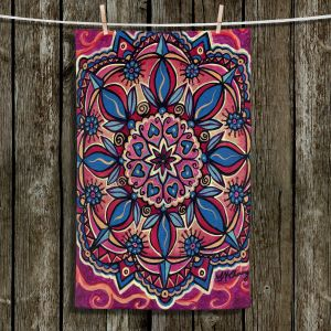 Unique Hanging Tea Towels | Ann Marie Cheung - Mandala Love | Pattern flower spiritual