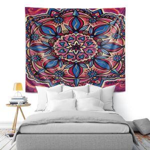 Artistic Wall Tapestry   Ann Marie Cheung - Mandala Love   Pattern flower spiritual
