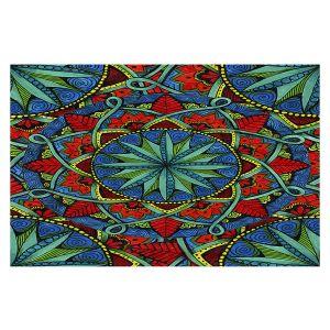 Decorative Floor Covering Mats | Ann-Marie Cheung - Mandala Magic 01 | Geometric Nature Flower