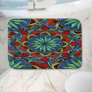 Decorative Bathroom Mats | Ann-Marie Cheung - Mandala Magic 01 | Geometric Nature Flower