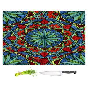 Artistic Kitchen Bar Cutting Boards | Ann-Marie Cheung - Mandala Magic 01 | Geometric Nature Flower