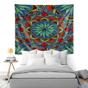 Artistic Wall Tapestry   Ann-Marie Cheung - Mandala Magic 01   Geometric Nature Flower