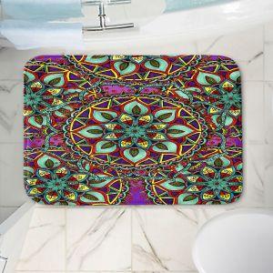 Decorative Bathroom Mats | Ann-Marie Cheung - Mandala Magic 02 | Geometric Nature Flower