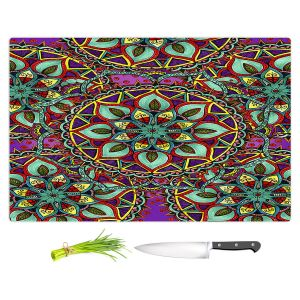 Artistic Kitchen Bar Cutting Boards | Ann-Marie Cheung - Mandala Magic 02 | Geometric Nature Flower