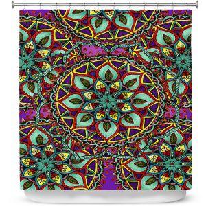 Premium Shower Curtains | Ann-Marie Cheung - Mandala Magic 02 | Geometric Nature Flower