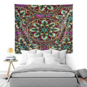 Artistic Wall Tapestry   Ann-Marie Cheung - Mandala Magic 02   Geometric Nature Flower