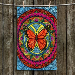 Unique Hanging Tea Towels | Ann-Marie Cheung - Monarch Butterfly | Geometric Insect Nature