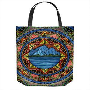 Unique Shoulder Bag Tote Bags | Ann-Marie Cheung - Mountains | Geometric Landscape Nature