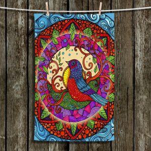 Unique Hanging Tea Towels | Ann-Marie Cheung - Pretty Bird | Geometric Bird Nature Leaves