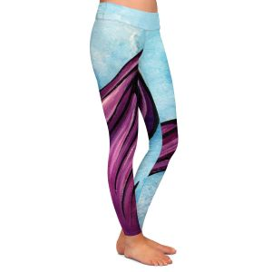 Casual Comfortable Leggings | Ann Marie Cheung - Purple Tail | Water fish nature ocean sea mermaid