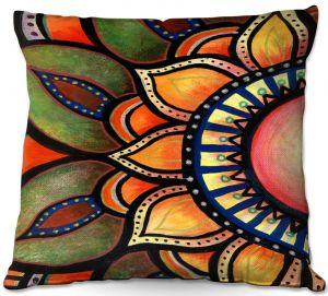 Throw Pillows Decorative Artistic | Ann Marie Cheung - Sunburst | Flower mandala nature spiritual