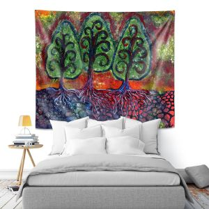 Artistic Wall Tapestry   Ann Marie Cheung - Three Sisters   Tree nature field