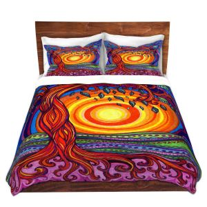 Artistic Duvet Covers and Shams Bedding | Ann Marie Cheung - Tree of Life | Nature pattern