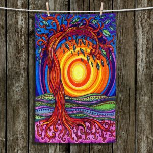 Unique Hanging Tea Towels | Ann Marie Cheung - Tree of Life | Nature pattern