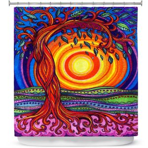 Unique Shower Curtain from DiaNoche Designs by Ann-Marie Cheung - Tree of Life